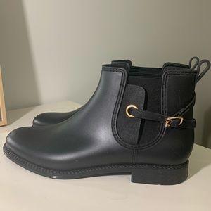 Henry Ferrara Matte Black Chelsea Rain Boot